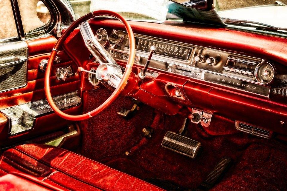 alquiler coches clasicos americanos de lujo bodas eventos rodajes jjdluxe cars alicante murcia coleccion cadillac interior