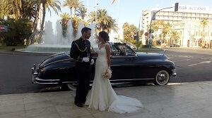 alquiler coches clasicos exclusivos de lujo bodas eventos rodajes alicante murcia fran rocio