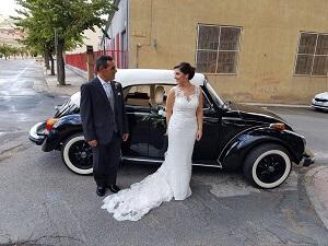 alquiler coches clasicos exclusivos de lujo bodas eventos rodajes alicante murcia sergio marta