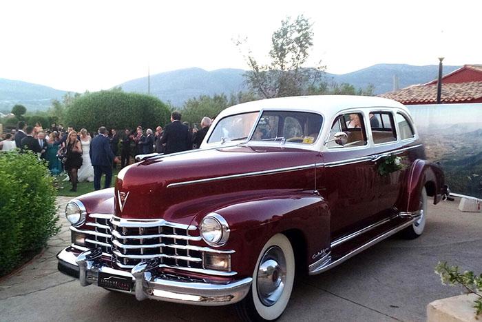 alquiler de cadillac deville sedan burdeos 1949 bodas eventos rodajes jjdluxe cars alicante portada