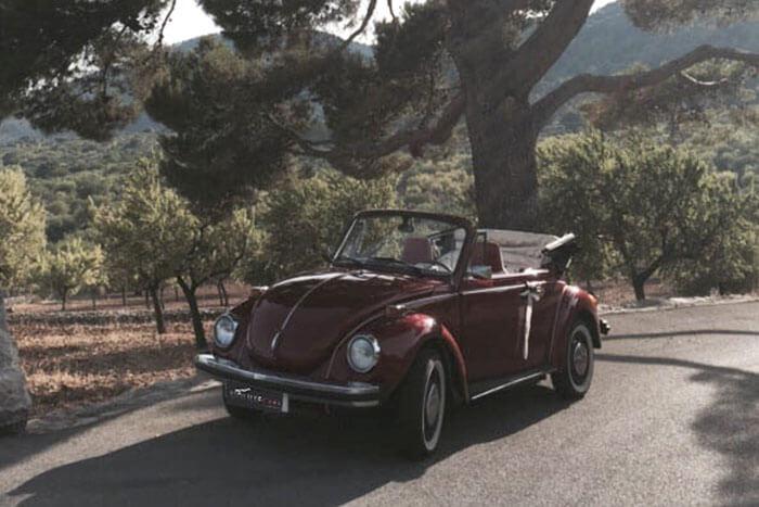 alquiler de escarabajo volkswagen beetle rojo 1976 en alicante bodas eventos rodajes jj dluxe cars portada 2