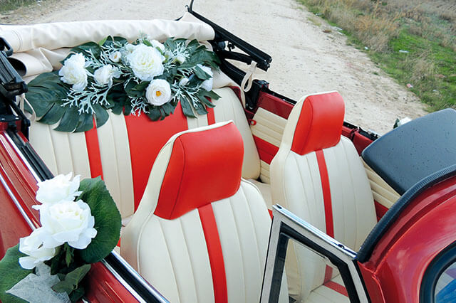 alquiler de escarabajo volkswagen beetle rojo 1976 en alicante bodas eventos rodajes jj dluxe cars portada 7