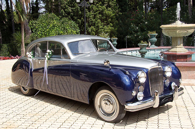 alquiler de jaguar mk vii azul gris 1956 en alicante para bodas precio eventos rodajes jj dluxe cars 5