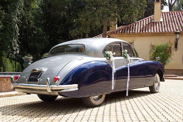 alquiler de jaguar mk vii azul gris 1956 en alicante para bodas precio eventos rodajes jj dluxe cars 6