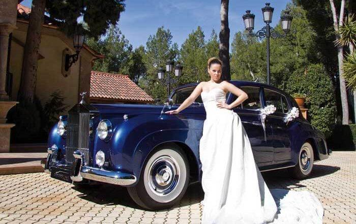 alquiler de rolls royce silver cloud azul 1961 coches clasicos antiguos vintage para bodas eventos y rodajes en alicante jjdluxe cars