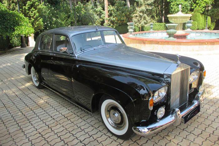 alquiler de rolls royce silver cloud iii negro plata 1963 coches clasicos antiguos vintage para bodas eventos y rodajes en alicante jjdluxe cars