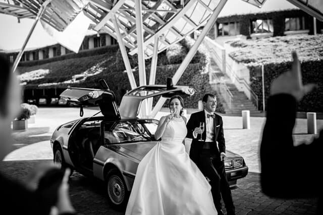 alquiler delorean para boda en alicante eventos rodajes jj dluxe cars alicante