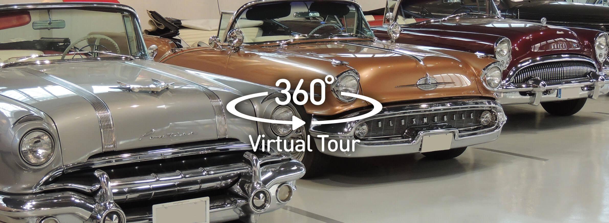 tour virtual 360 exposicion showroom museo alquiler de coches para bodas clasicos de lujo limusinas disco bus bodas eventos rodajes jjdluxe cars alicante