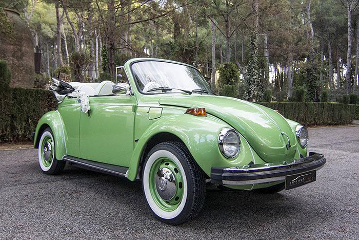 volkswagen vw beetle escarabajo cabrio descapotable 1979 verde lima alquiler de coches para bodas eventos y rodajes en alicante jjdluxe cars