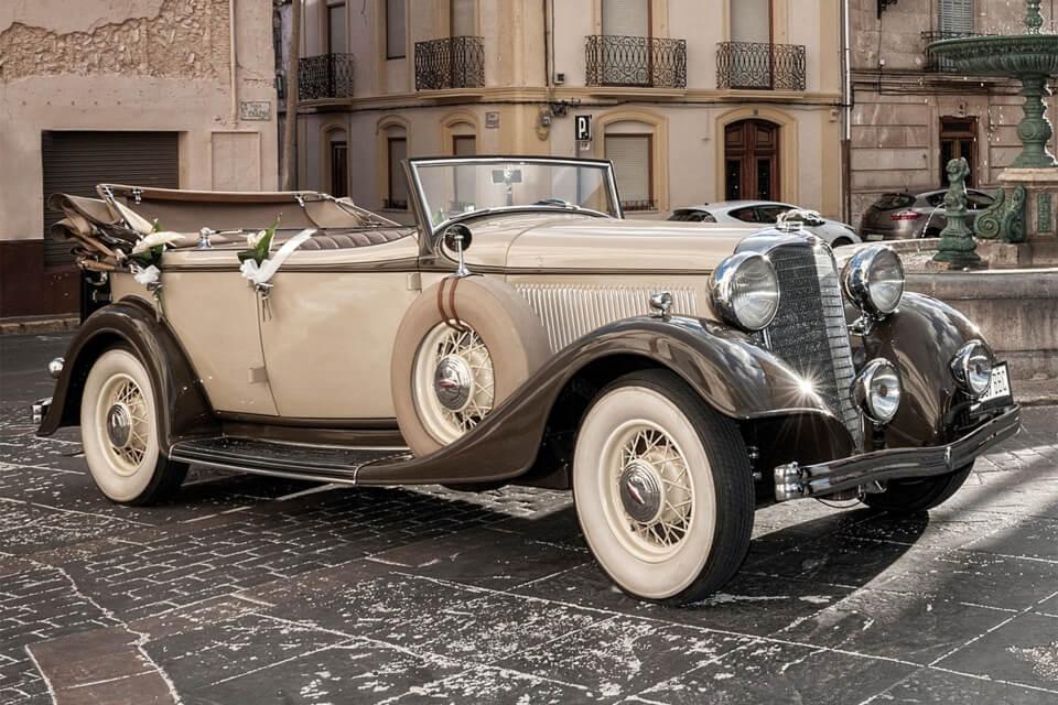 alquiler de coches para bodas clasicos coleccion bodas eventos rodajes jjdluxe cars alicante murcia licoln dual cowl