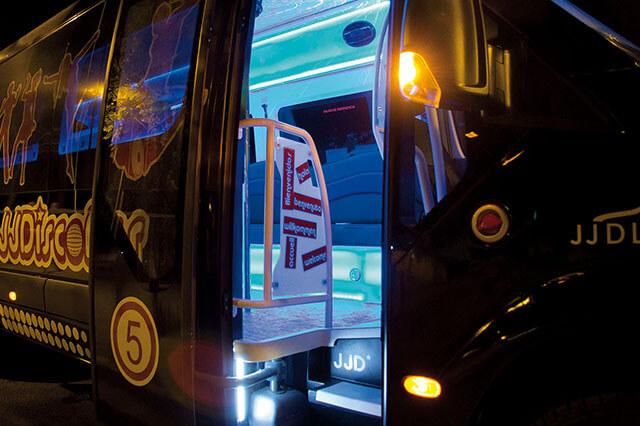 alquiler de discobus en alicante negro transfers despedidas soltera fiestas cumpleanos eventos 21 personas jj dluxe cars 5