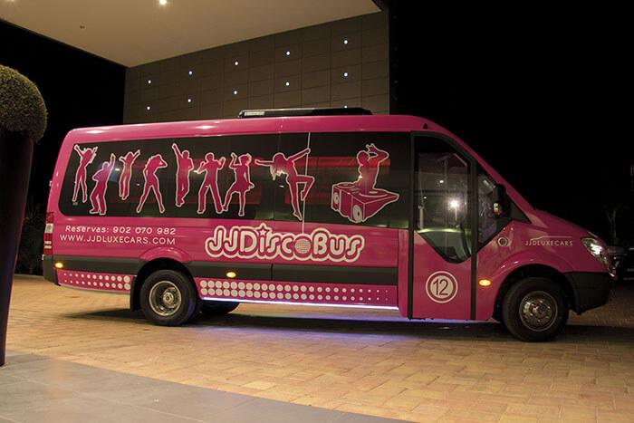 alquiler de discobus rosa en alicante transfers despedidas soltera fiestas cumpleanos eventos 21 personas jj dluxe cars 2