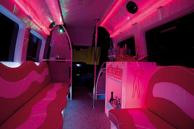 alquiler de discobus rosa en alicante transfers despedidas soltera fiestas cumpleanos eventos 21 personas jj dluxe cars 4