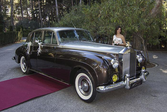 alquiler de rolls royce silver cloud marron 1962 bodas eventos rodajes jj dluxe cars alicante portada