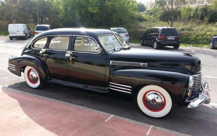 alquiler de cadillac en alicante serie 61 especial 1941 negro coches clasicos antiguos vintage bodas eventos rodajes jjdluxe cars