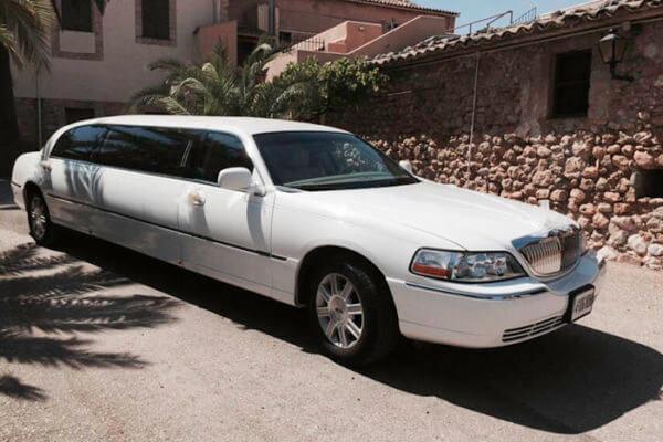 alquiler de limusina blanca en alicante lincoln town 6 bodas eventos rodajes jj dluxe cars portada