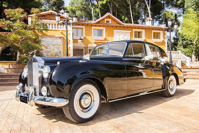 alquiler de rolls royce silver cloud negro 1961 bodas eventos rodajes jj dluxe cars alicante