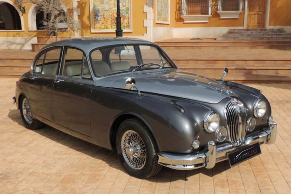 alquiler de jaguar para bodas en alicante mk ii plata 1962 coches clasicos antiguos vintage eventos rodajes jjdluxe cars